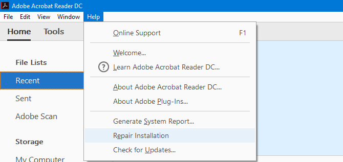 How to Repair or Recover Data From a Corrupted PDF File adobe repair installation 670x317
