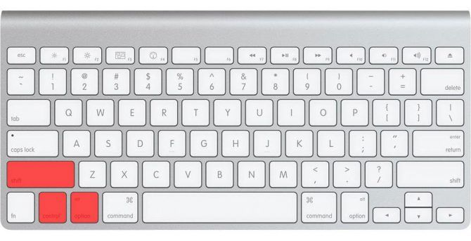 Apple Smart Keyboard Shift Control Option