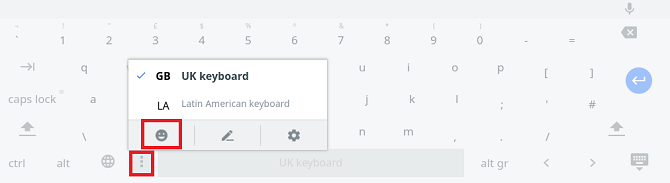 The Chromebook's on-screen keyboard is a useful accessibility tool and time saver.