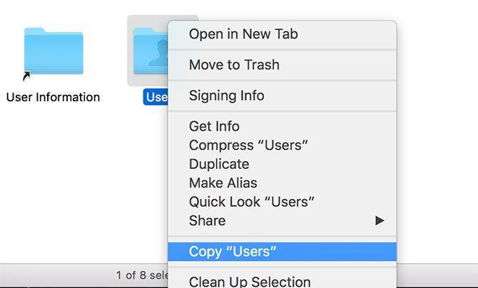 Copy Users folder