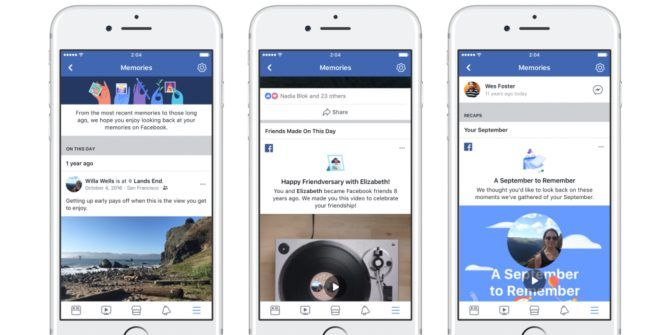 Facebook Launches Memories to Remind You of the Past