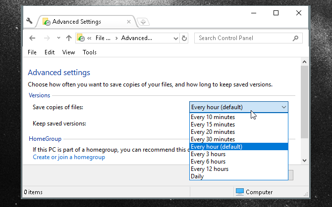 The Ultimate Windows 10 Data Backup Guide file history advanced settings