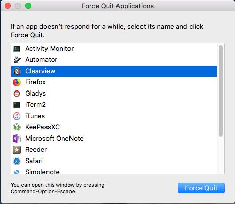 force quit Mac app