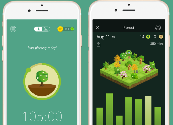 Forest iOS time management app