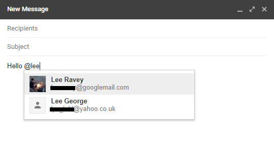 How to Mention (@) Other Users in the New Gmail gmail mention
