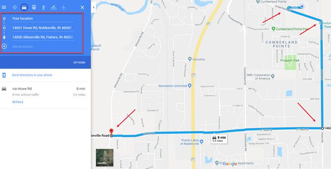 Google Maps Alternate Route Workaround