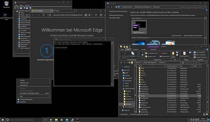 Windows 10 Dark Theme: GreyEve Theme