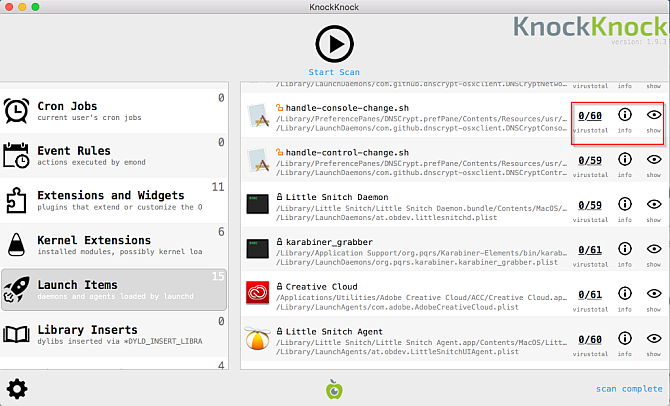 knockknock user interface Mac