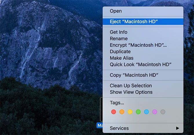Eject Drive macOS
