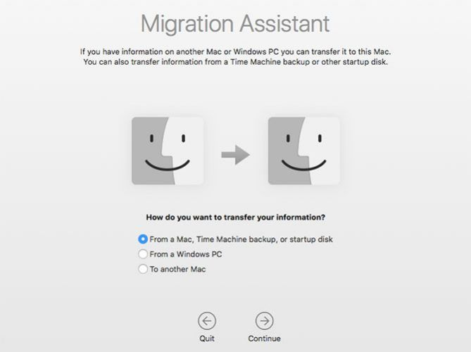 Migration Assistant in macOS