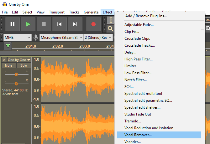 How to Remove the Vocals From Any Song Using Audacity