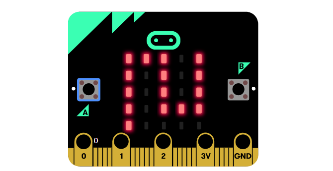 A BBC Micro:bit board graphic