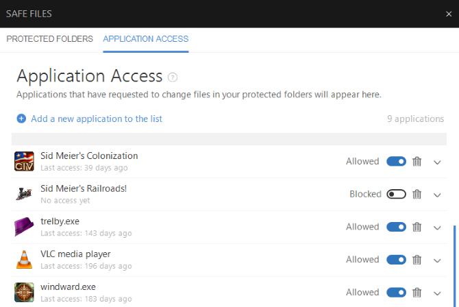 Adjust anti-ransomware settings in Bitdefender