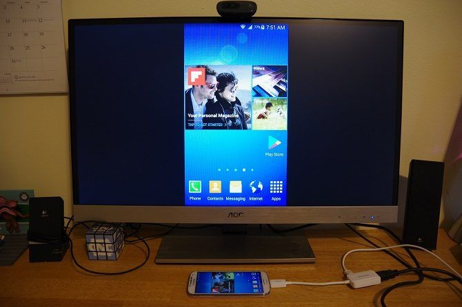 How to Connect Your Phone to Your TV Using USB - phone mirrored on TV 1