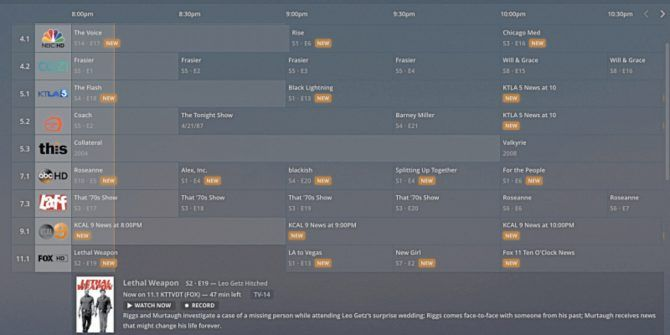 Plex Adds a Traditional Live TV Channel Guide