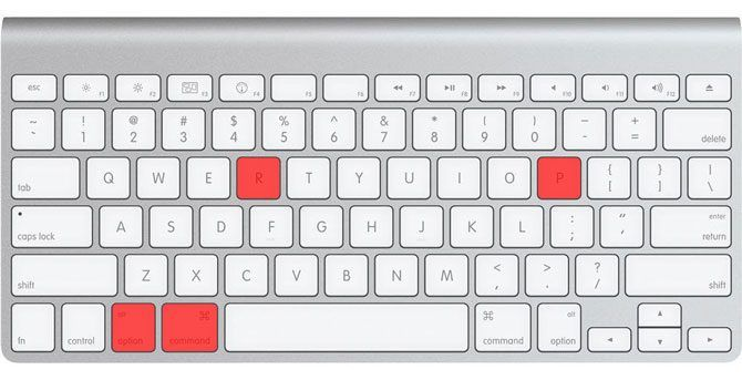 Apple Smart Keyboard Command Option P R