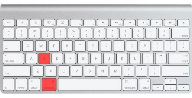 Apple Smart Keyboard Command + S