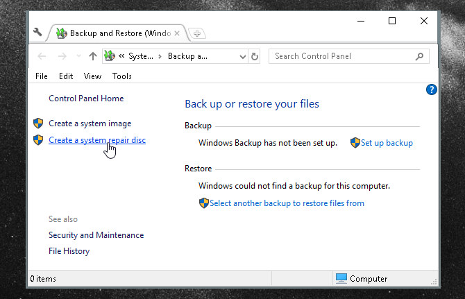 The Ultimate Windows 10 Data Backup Guide system repair disc 2k18