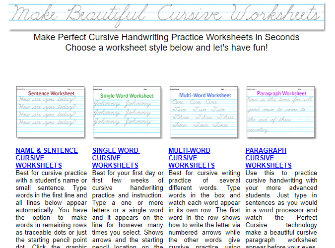 10 Printable Handwriting Worksheets To Practice Cursive