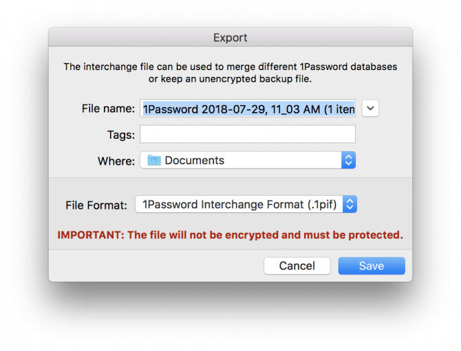 How to Switch Between LastPass and 1Password While Migrating Your Data 1password export 2 e1532876649960