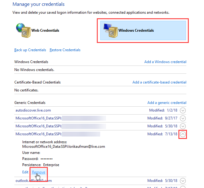 Credential Manager u sustavu Windows 10