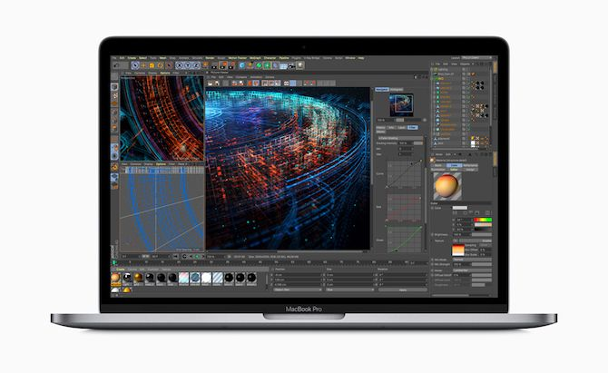 2018 MacBook Pro running graphics application