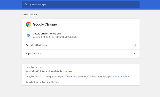 Google Chrome should automatically update
