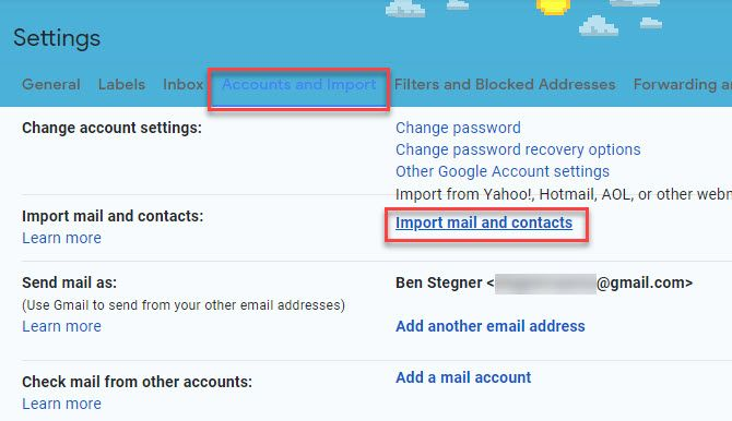 Gmail-Import-Account