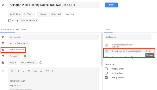 How to Avoid Library Late Fees Using Google Calendar