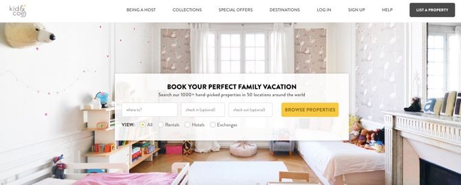 Kid&Coe family friendly vacation rentals