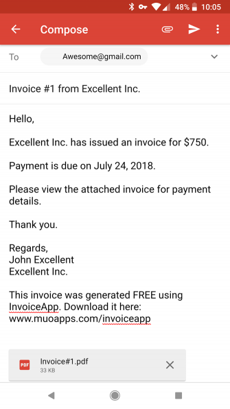 Mit Invoice Mini wird die Erstellung mobiler Rechnungen einfacher als je zuvor