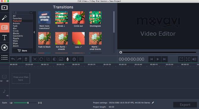 Movavi Screen Capture Studio Interface