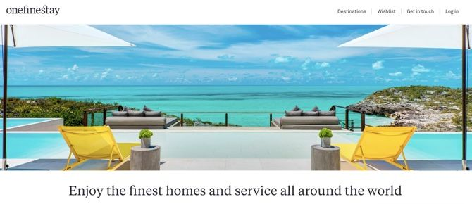 OneFineStay luxury vacation rentals