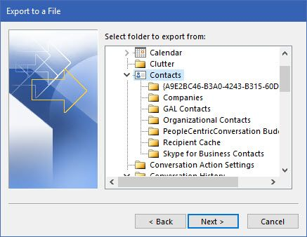 Outlook-Export-Contacts
