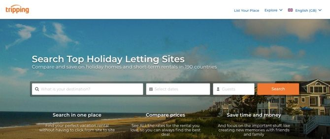Tripping.com vacation rental search
