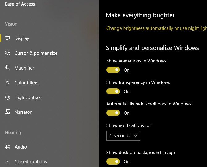 Windows-10-Turn-Off-Effects-Settings
