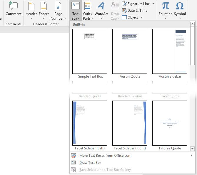 How to Add Custom Design Text Boxes in Microsoft Word Documents