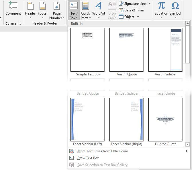 Wie Hinzufügen von benutzerdefinierten Design-Textfeldern in Microsoft Word-Dokumenten