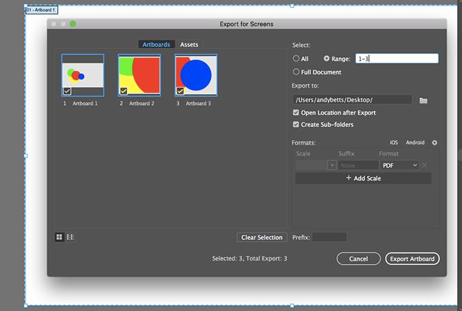 artboards as pdf
