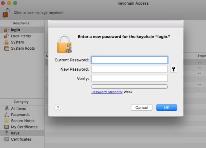 what to do if you forgot your keychain password on a mac