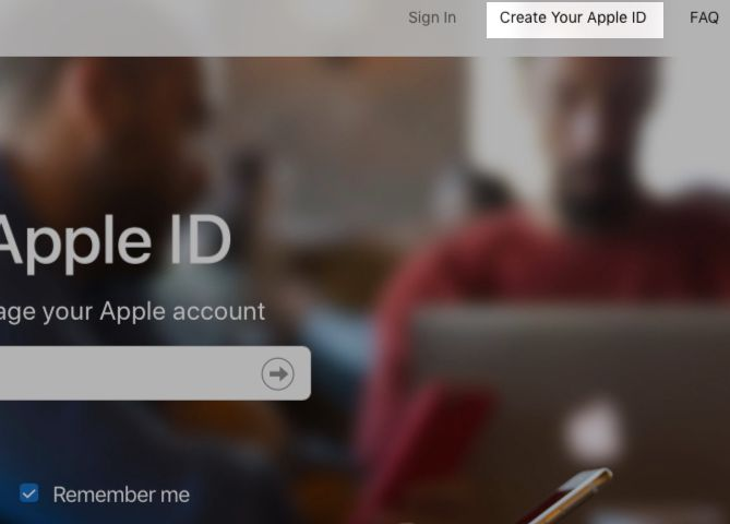 how to create password for apple id