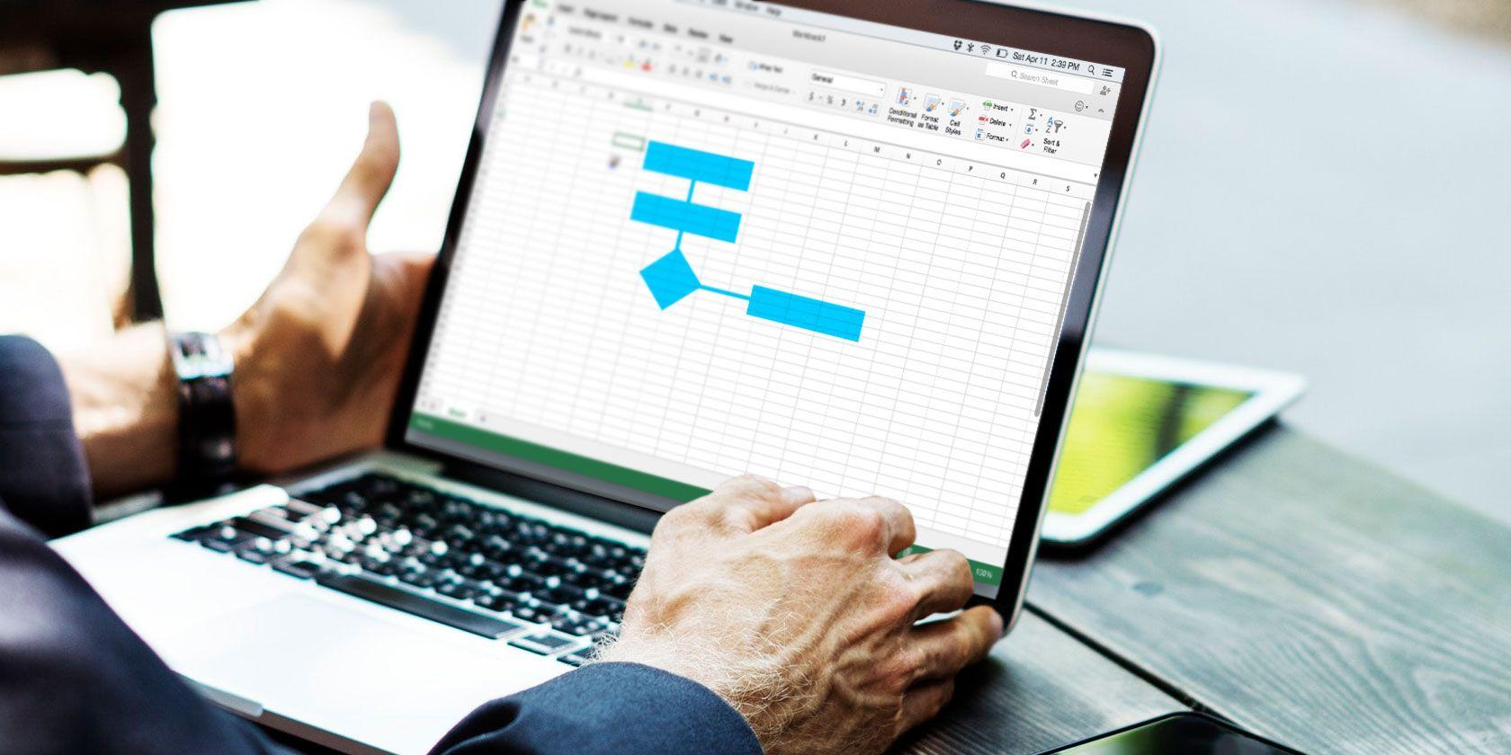 Excel-dijagram toka