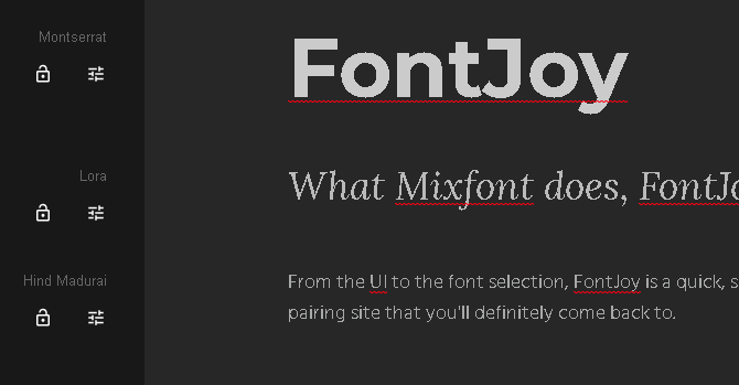 fontjoy example