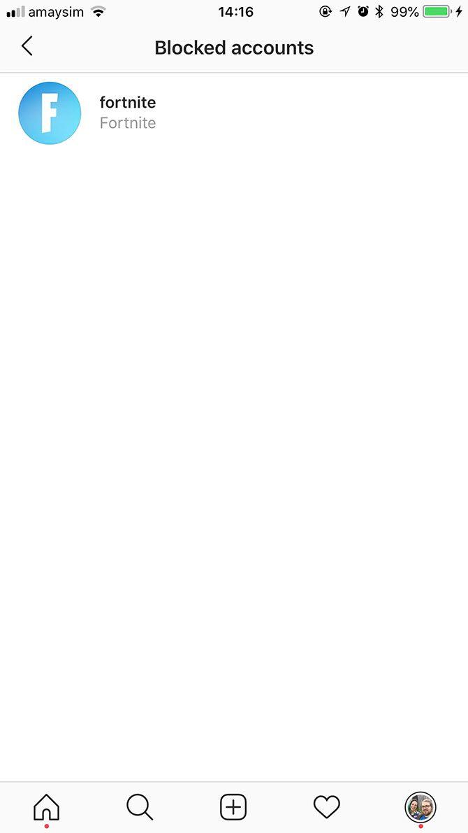 how to delete blocked list on instagram
