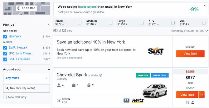 Die 10 besten Seiten für günstige Last-Minute-Online-Mietwagen