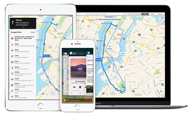 Apple Maps Devices