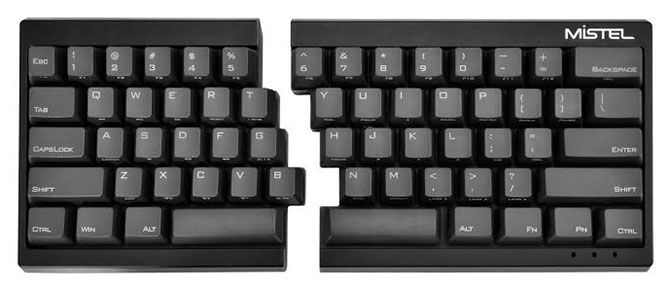 Mistel Barocco Ergonomic Keyboard