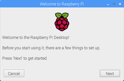 Raspbian's new getting started feature