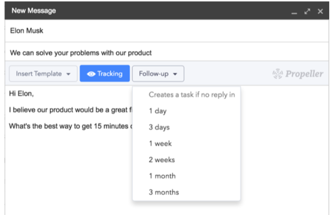 Propeller CRM Gmail extension