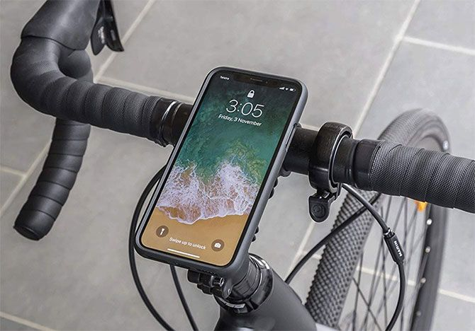 QuadLock iPhone X biciklista
